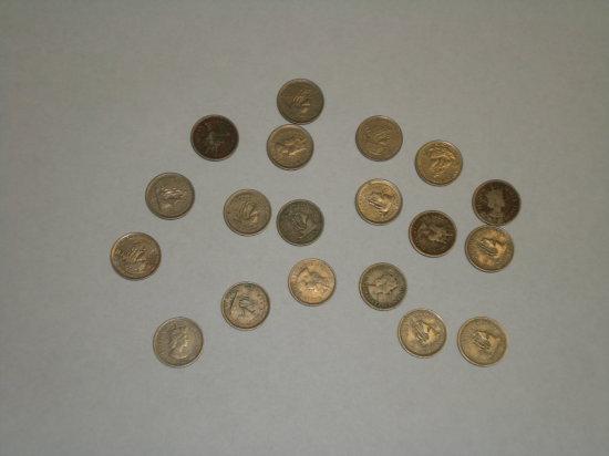 British Caribbean Territories 10 cent pieces 1950' & 60's