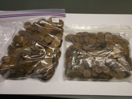 Wheat Cents (approx 3 lbs. per bag, 2 bags)
