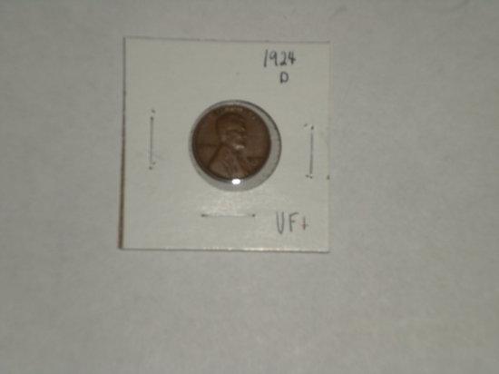Lincoln Cent 1924-D semi key