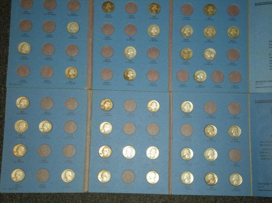 Silver Washington Quarters in Whitman Albums