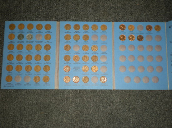 Wheat Cent Collection 1941-1966 in Album