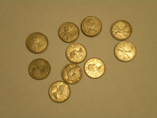 Silver Candian Quarters