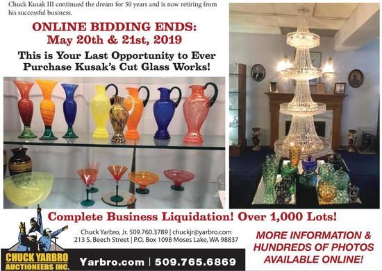 Day 1: Kusak Cut Glass Works Auction