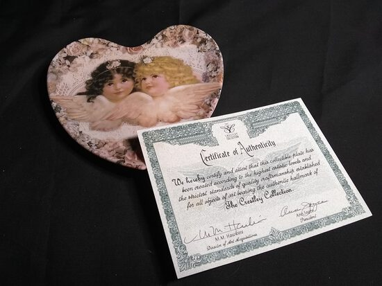 Collectible Plate-Heavenly Hearts Sweetness and Grace by Thomas Cathey with COA
