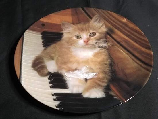 Collectible Plate-Kitten on the Keys by The Crestle Collection