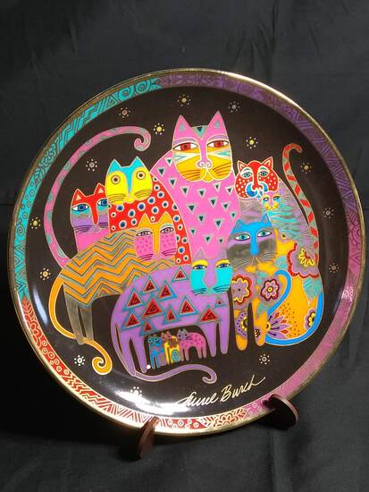 Collectible Plate-Fabulous Felines by Burch