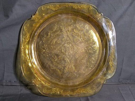 Vintage Amber Madrid Dinner Plate