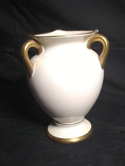 Vintage Empire Ivory Ware English Triple Handle Vase
