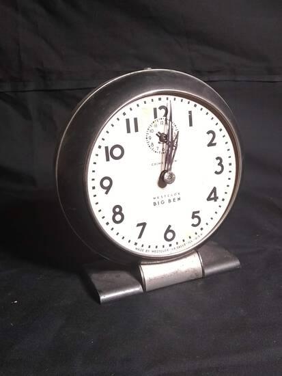 Vintage Big Ben Westclox Thumb Wind Alarm Clock