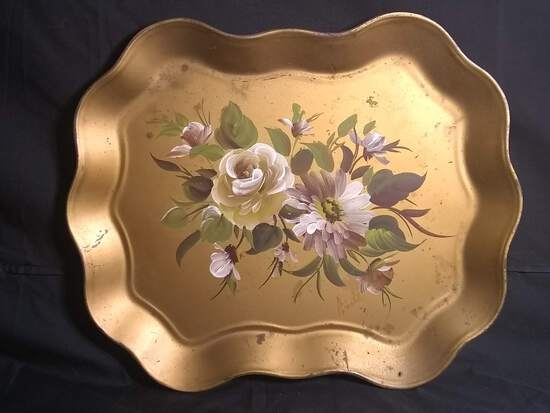 Hand painted and Signed Serving Tray