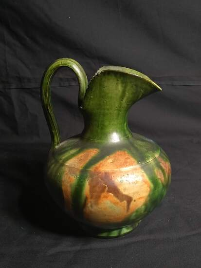 Vintage Mexican Pottery Pitcher signed #333