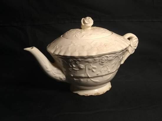 Vintage Rose Point Pope Gosser Teapot