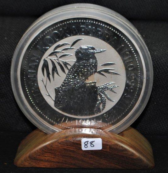 1992 AUSTRALIAN 1 KILO 999 SILVER COIN