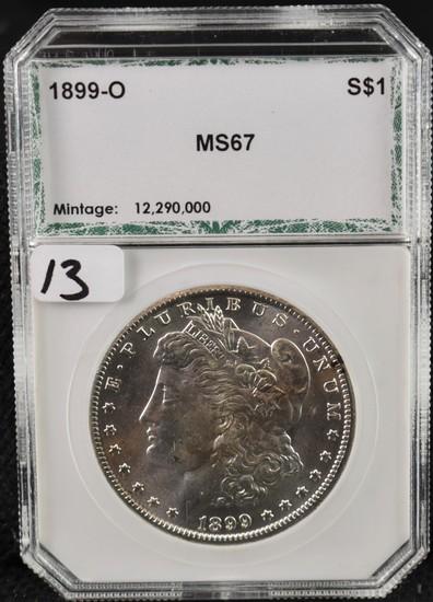 RARE 1899-0 MORGAN DOLLAR - PCI MS67
