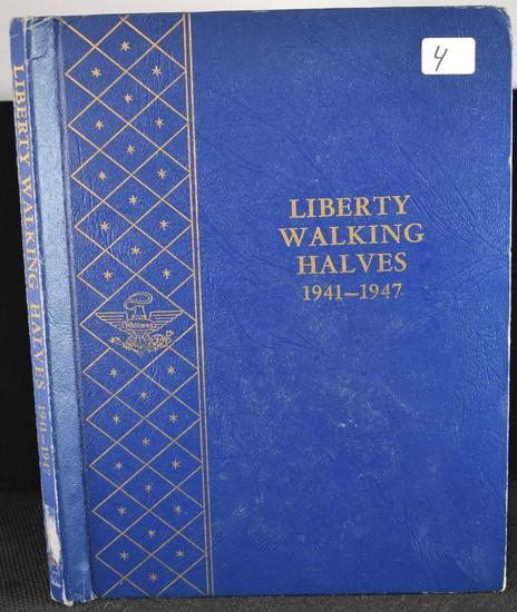 1941-1947 CHOICE UNC WALKING LIBERTY HALF DOLLARS