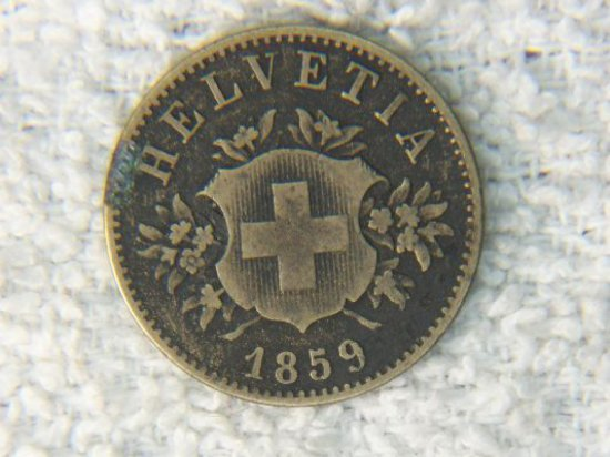 1859 Switzerland 20 Centimes