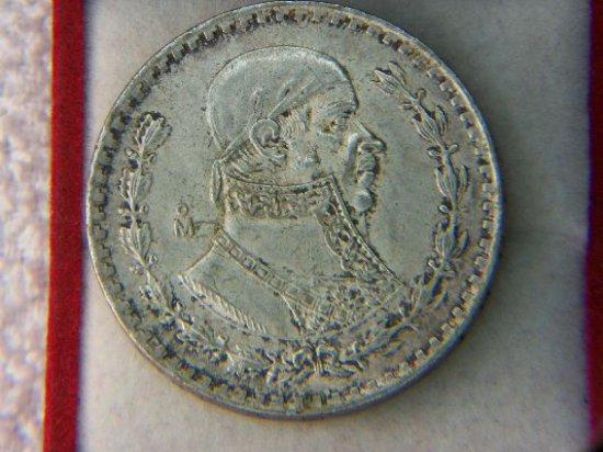 1962 Mexico One Peso Silver