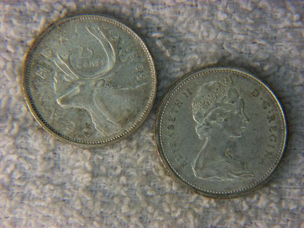 1965 And 1966 Canadian Silver Quarters