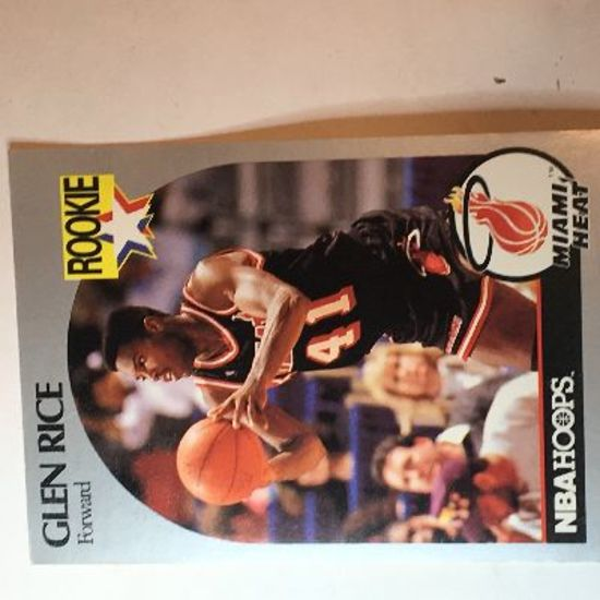 1990 Nba Glen Rice Rookie Card Number 168 Art Antiques