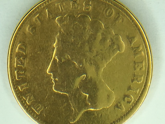 1888 United States $3.00 Gold Coin
