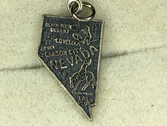 .925 Sterling Silver Ladies State Charm