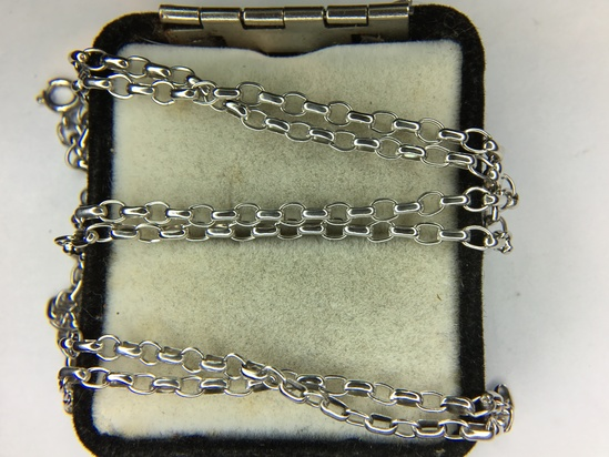.925 Sterling Silver Unisex 24 Inch Cable Necklace
