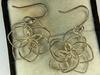 .925 Sterling Silver Ladies Modernist Earrings