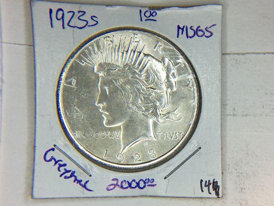 1923 S Peace Dollar