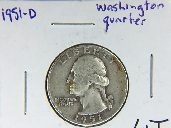 1951 D Washington Quarter