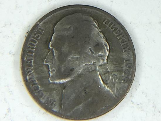 1945 S War Nickel