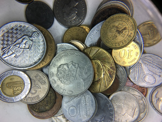(50) Unsearched Foreign Coins