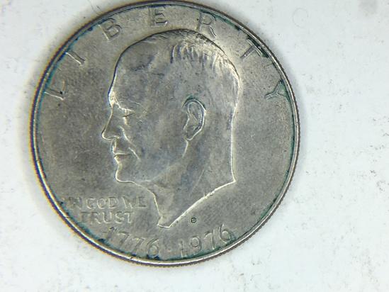 1776-1976 D Eisenhower Dollar