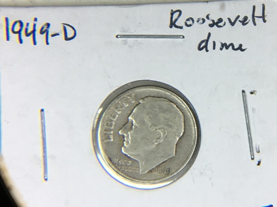 1949 D Roosevelt Dime