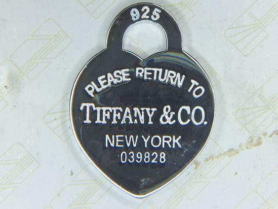 .925 Sterling Silver Return To Tiffany's Luggage Tag