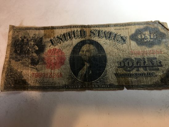 1917 George Washington One Dollar Note