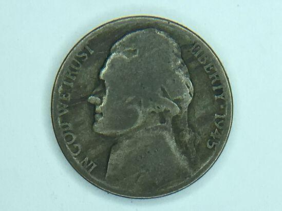 1945 P Silver War Nickel