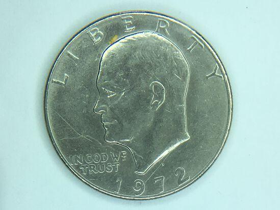 1972 D Eisenhower Dollar