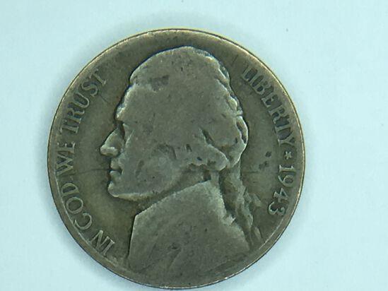 1943 P Silver War Nickel