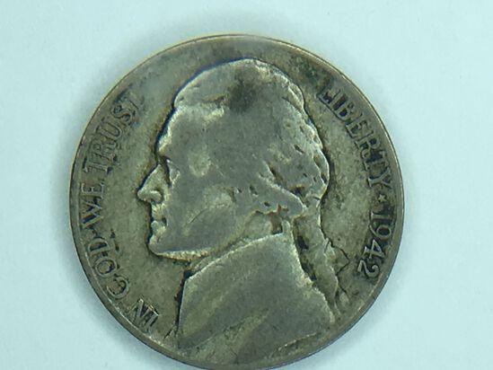 1942 P Silver War Nickel