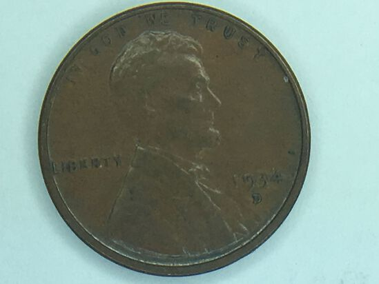 1934 – D Lincoln Cent