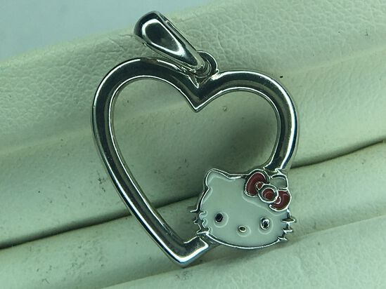 .925 Sterling Silver Ladies Heart And Pendant