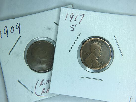 1909, 1917s Lincoln Cent