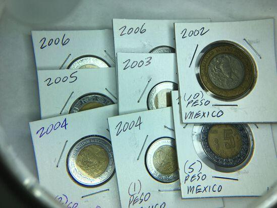 (8) Mexico Pesos Great Collection