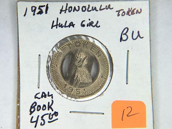 1951 Honolulu Token