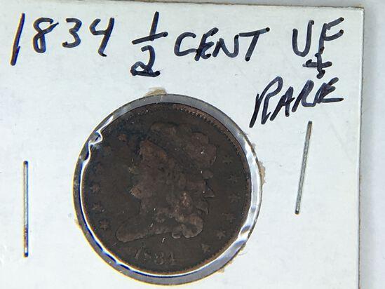 1834 1/2 Cent