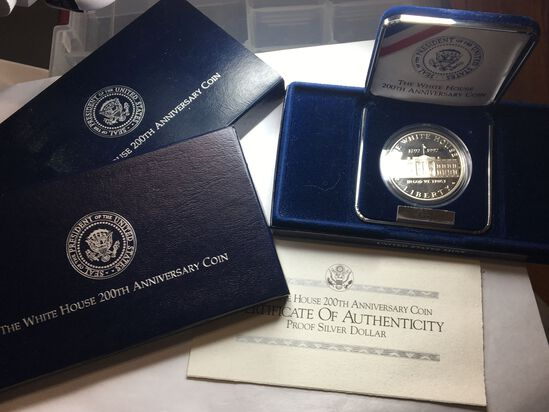1992 Silver 1992 200th Anniversary Proof Silver Dollar