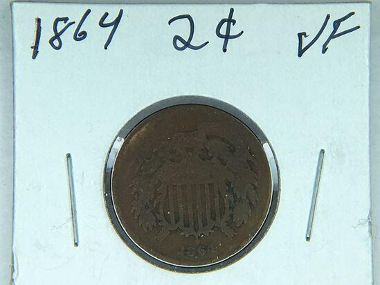 1864 2 Cent Copper