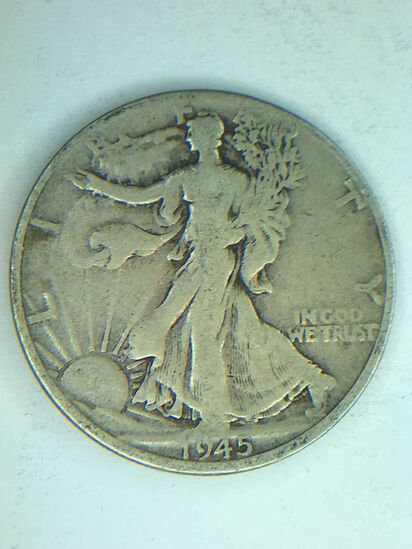 1945 D Walking Liberty Half Dollar