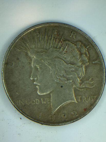 1922 – P Peace Silver Dollar