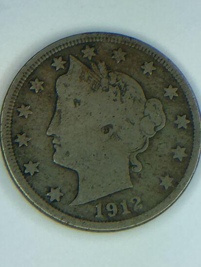 1912 – D Liberty Nickel